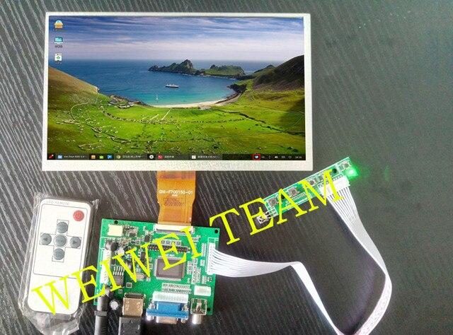 Raspberry Pi 3 pantalla LCD 9 pulgadas AT090TN12 TTL LVDS controlador placa HDMI VGA 2AV 50PIN VS-TY2662-V1 para Pcduino banana