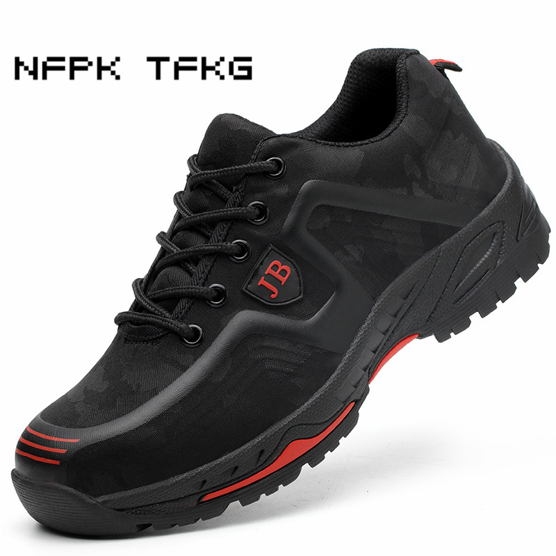new arrival large size men fashion breathable steel toe caps work safety shoes anti-puncture builder security boots protection
