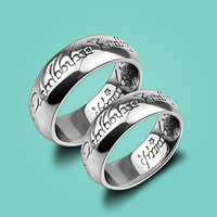 Retro Style Silver Ring Ring Neutral Thai Silver Ring Bohemian Alphabet Ring 925 Sterling Silver Jewelry