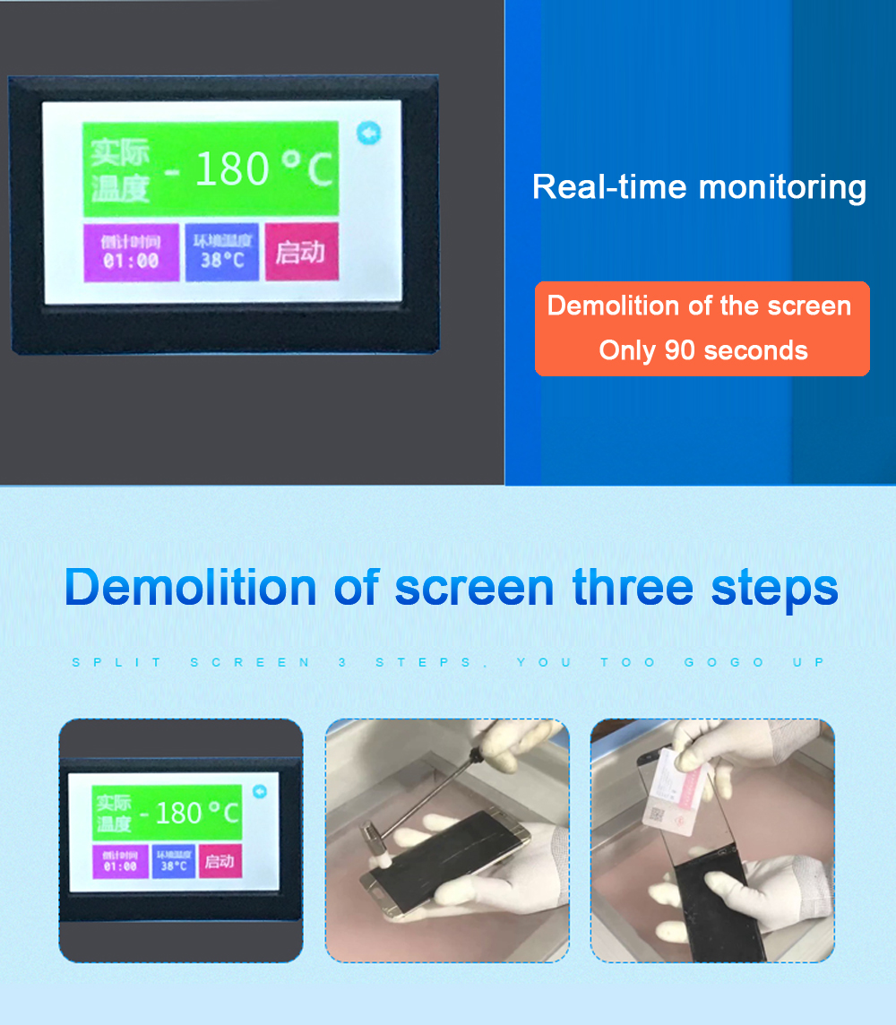 LCD Panel Freezing Separator for Smartphone/Tablet Screen Repair 13
