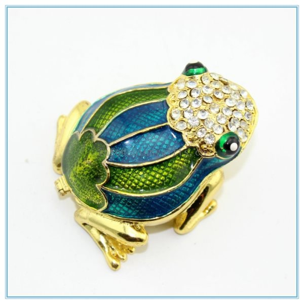 Shinny Gifts Handmade Frog Trinket Box Frog Ring Box SCJ213in