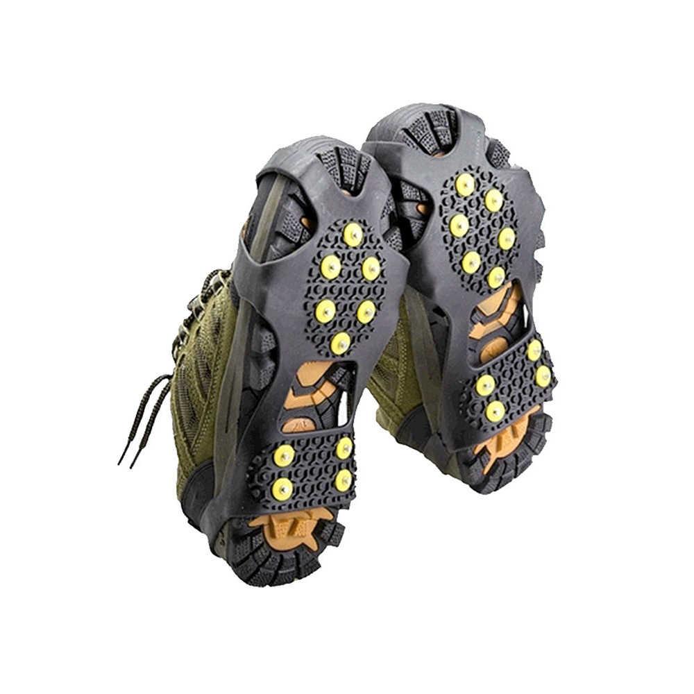 EXPfoot Răng Cao Su Non-Slip Ice Gripper Tuyết Móc Sắt Leo Núi Leo Núi Hot Kích Thước 31 ~ 48 Mùa Đông Khởi Động Tăng Vọt đơn giản Gripper