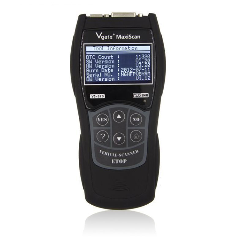 Maxiscan VS890 Vgate Scanner multi-langue OBDII outil de Diagnostic lecteur de Code