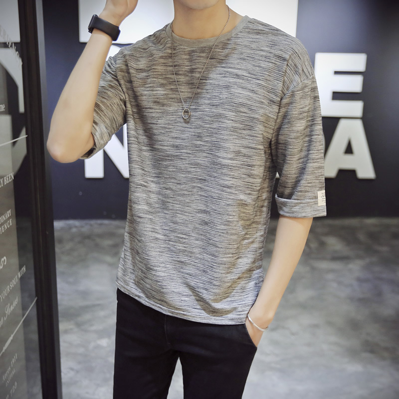 Summer Men's Fashion tshirts Solid Color Short-sleeved T-shirt Round Neck men tshirt mens clothing t shirts homme