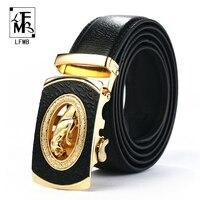 [Lfmb] الرجال ليوبارد حزام جلد طبيعي حزام مصمم التلقائية الرجال جودة عالية أحزمة ceinture أوم لوكس الجينز