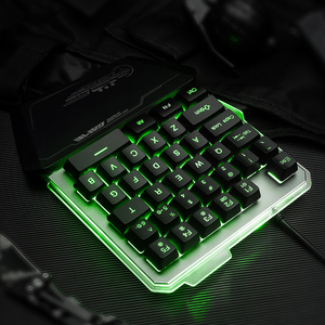 Image 4 - Gaming Keyboard One Handed Keyboard For PUBG LOL Mobile Game Left Hand Small Keyboard Dropship LED Backlight keyboard
