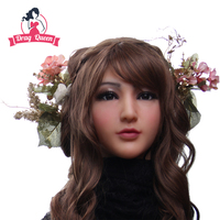 Drag queen female masks Realistic mask Goddess Claire for cosplay High simulation masks for crossdresser shemale masquerade