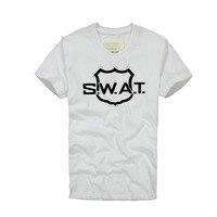 Amerika SWAT. polis desen Adam T-Shirt Pamuk V Boyun T Gömlek erkek Kısa Kollu erkek T gömlek Erkek Tees Tops ücretsiz Kargo