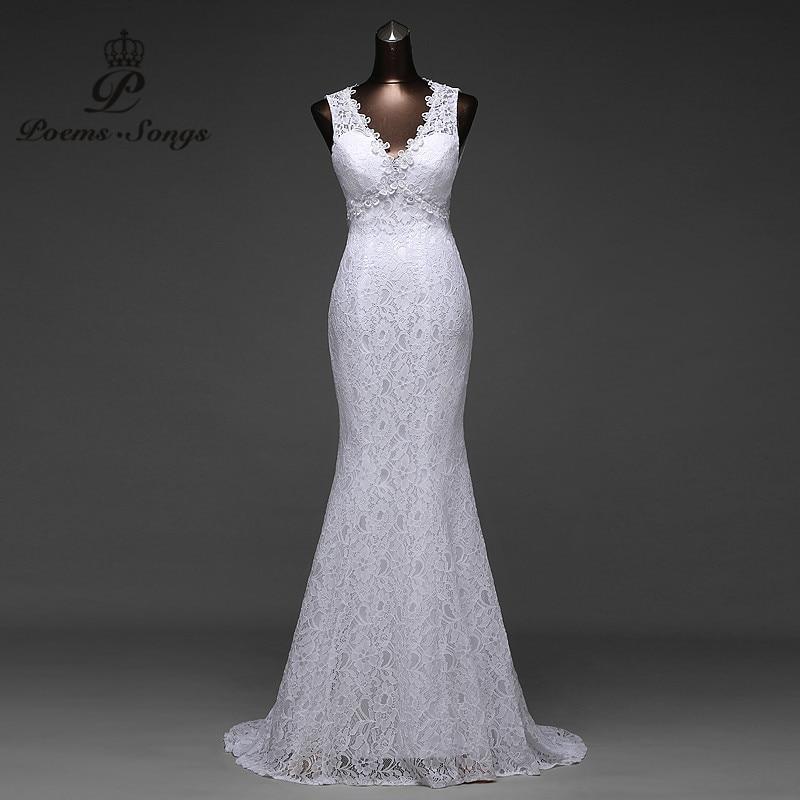 73b486234 Preço baixo sexy V neck e muito bonito sexy backless sereia Vestidos de  Casamento vestidos de noiva robe de mariage vestido de noiva