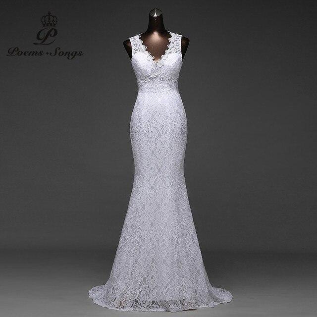 Низкая цена пикантные V_neck и очень красивая сексуальная спинки Русалка торжественные Платья Vestidos De Noiva свадебное платье