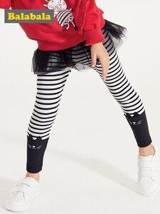 Image 1 - Balabala Kinderkleding Meisjes Leggings Lente 2019 Nieuwe Kinderen Baby Broek Broek Koreaanse Versie Katoen