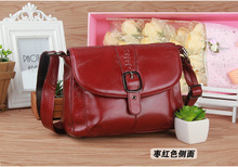 Women's Genuine Leather Cross Body Organizer Messenger Bag, 2016 fashion shoulder handbag for Mom , free shipping