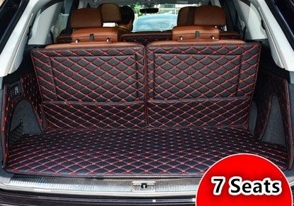 Best quality! Full set trunk mats for Audi Q7 7seats 2014 2006 waterproof cargo liner mat boot ...