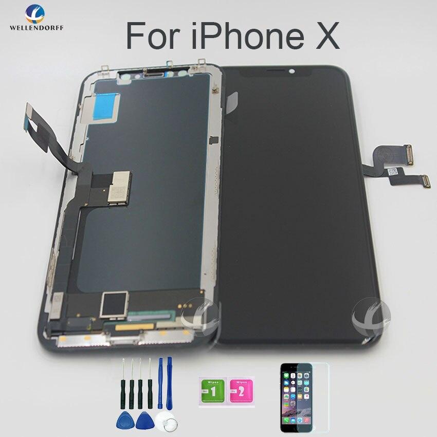 Super AMOLED для iPhone X ЖК дисплей OLED Сенсорный экран Дисплей сборки с 3D touch Оригинальный OEM TFT для выбора 100% тестирование работают нормально