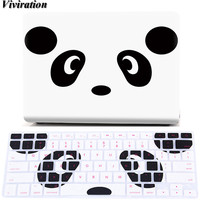 Viviration PVC Prints Cover For Macbook Air 11 13 Pro 13 15 Retina 12 13 15 Case For Macbook 2016 Pro 12 15 Case+Keyboard Cover