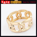 Luxury Elegant Statement  Gold Plated Hollow out Big Large Wide Flower Open Irregular Cuff Bangle Bracelets for Women Gift