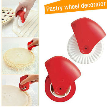 Kitchen Pizza Pastry Lattice Cutter Pastry Pie Decor Cutter Plastic Wheel Roller for Pizza Pastry Pie Crust Baking Cutter Tools