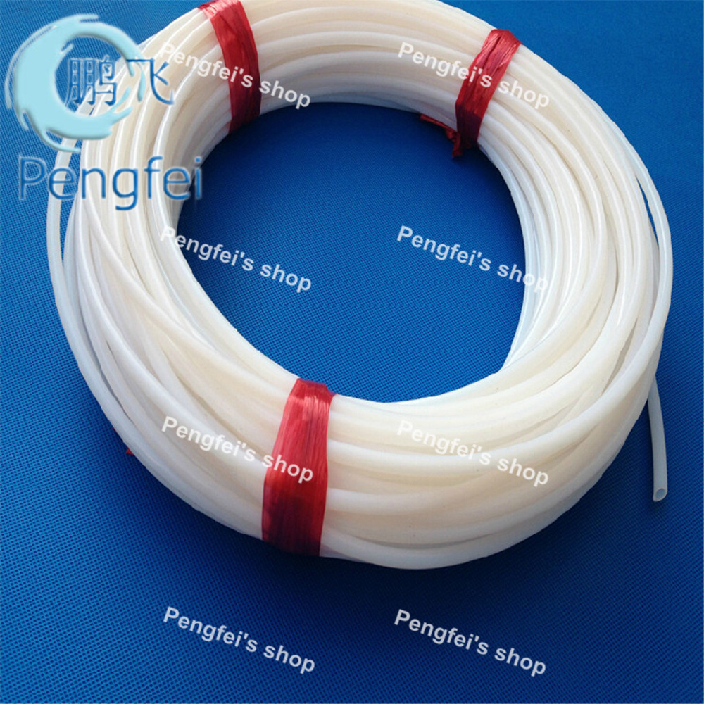 Free shipping 20m inner diameter 5mm outer diameter 7mm 5 7mm white teflon tube teflon hose