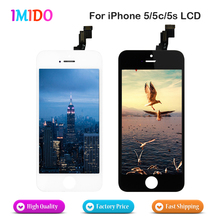 цена на 50PCS/LOT AAA Quality LCD Screen Display Digitizer Assembly For iPhone 5 5G 5S 5C LCD Display Black/White free shipping via DHL