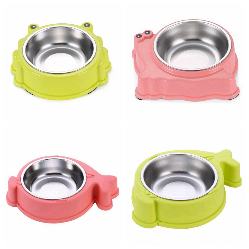cute pet bowl stainless steel dog feeder animal shaped cat food bowls plastic puppy water. Black Bedroom Furniture Sets. Home Design Ideas