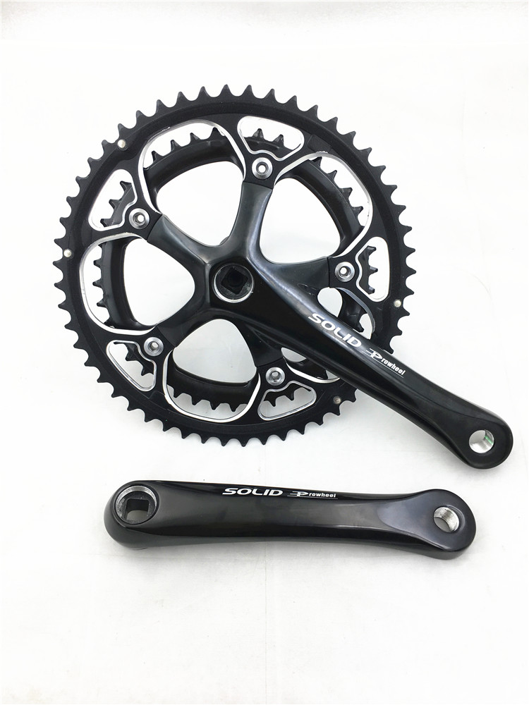 PROWHEE SOLID  52/42T ALUMINUM alloy CNC 9*2 speed 170mm road bike cranksetPROWHEE SOLID  52/42T ALUMINUM alloy CNC 9*2 speed 170mm road bike crankset