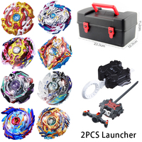8pcs Set B97 B100 Metal Beyblade Burst Toys Arena Sale Bursting Gyroscope Containing Emitter Hobbies Spinning