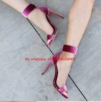Summer Women Sandals Purple High Heels Open Toe Shoes High Heels Fashion Comfortable Rome Plus Size 42