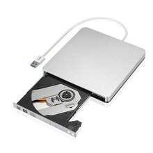 External Slim USB 3.0 DVD Burner DVD-RW VCD CD RW Drive Burner Drive Superdrive Portable for Apple Mac MacBook Pro Air iMAC PC