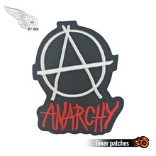 Anarchy Patch Significant Custom Motorcycle Logo Sons Of Patch Anarchy SOA Embroidered Biker Emblem for Vest Jackets DIY red black star sons of anarchy reaper bandeau side tie bikini