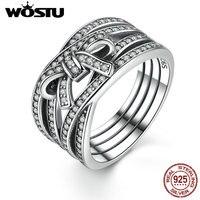 100%แท้เงินแท้925ที่ละเอียดอ่อนSentimentsแหวนนิ้วโบว์