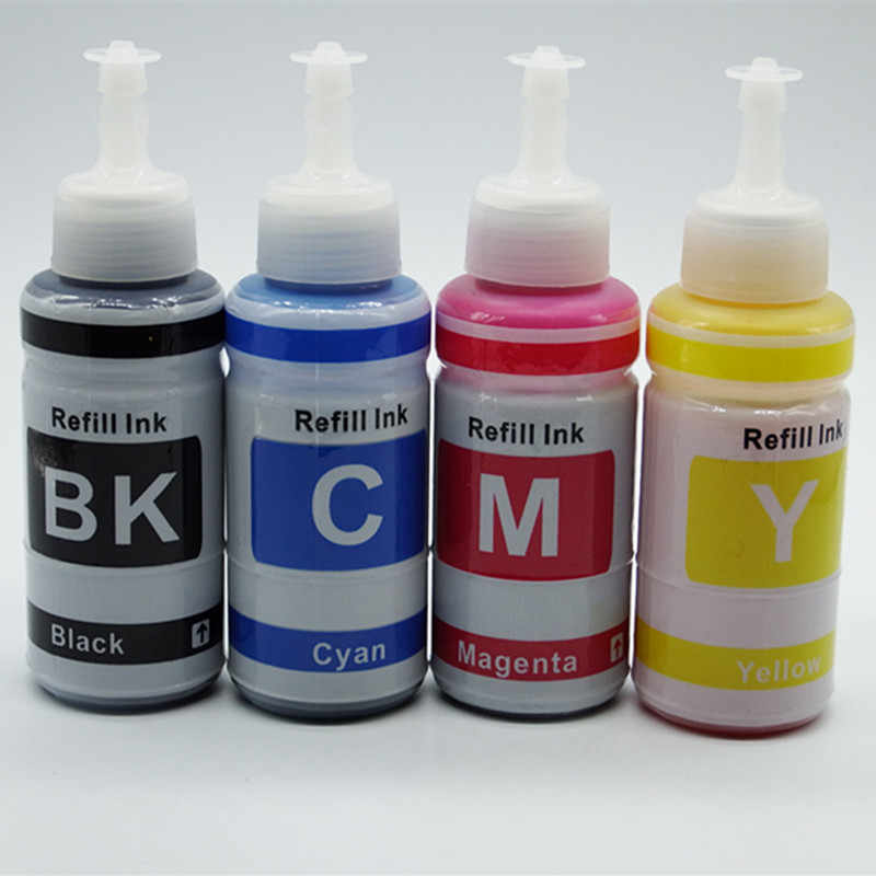 Tinta Warna Dye Berbasis Non OEM Set Tinta Isi Ulang Kit Untuk Epson L100 L110 L200 L210 L300 L355 L120 L130 l1300 L220 L310 L365