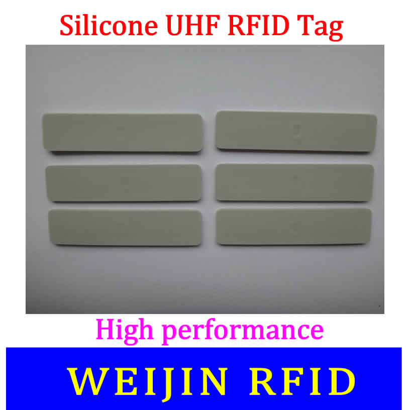 VIKITEK 5813 silicone UHF RFID Tag Alien Higgs 3 chip ,Water proof, high temperature resistance. 50pcs 74 21mm rfid gen2 uhf paper tag with alien h3 chip used for warehouse management