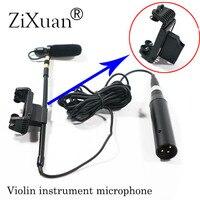 Professional Music Instrument Microphone Condenser Violin Microfone for Shure AKG Samson Wireless System XLR Mini Transmitter