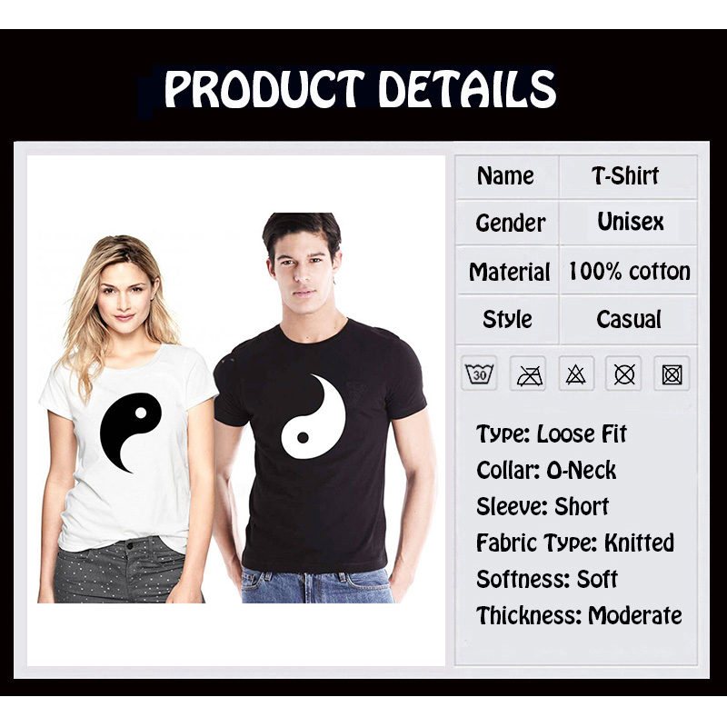 9ba3056a7f EnjoytheSpirit Couple Tshirt Yin Yang Relationship Shirts Gift for Her and Him  Couples Matching Top Tee 100% Cotton Unisex