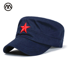 Military Hats Men's Embroidery Star Flat Top Brand Patriot Classic Truck Warrior Army Camouflage caps navy stars marines bone