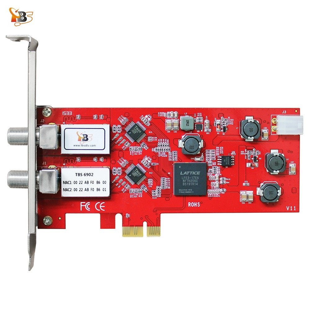 TBS6902 DVB-S/S2 Dual TV Tuner PCIe Card Watch and Record Digital Satellite FTA TV Channels on PC
