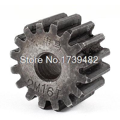 10mm x 35mm x 20mm Module 2 16 Teeth Metal Straight Spur Gear Wheel Gray märklin katalog spur z