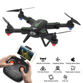 F16W 2,4 GHz 4CH RC helicóptero de 6 ejes WiFi FPV Dron plegable con cámara HD altitud mantener RC Quadcopter juguetes