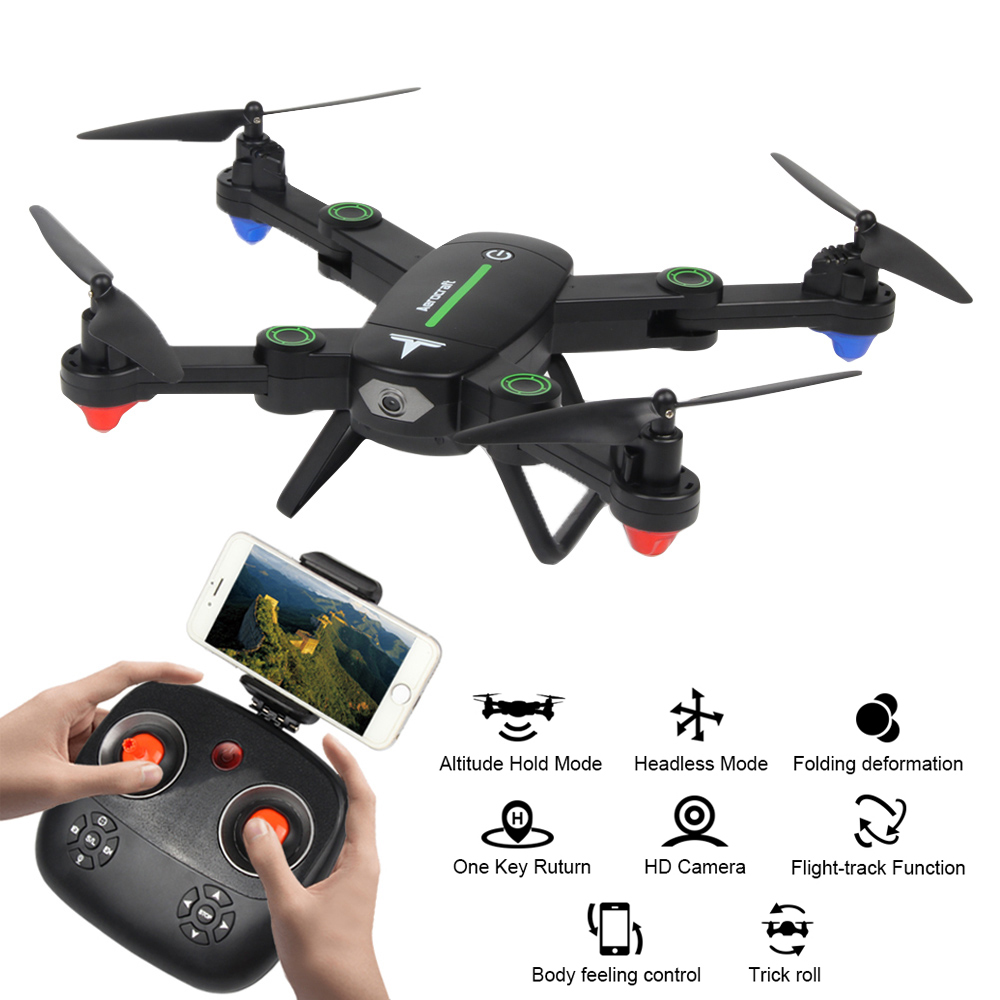 F16W RC Helicopter 2.4GHz 4CH 6-Axis WiFi FPV Foldable Arm Drone with Camera HD Altitude Hold RC Quadcopter
