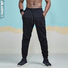 Apontar Algodão Calças de Jogging Jogger Sweatpants para Homens Casual Cabido Ativo Masculino Sporty Calças Bolso AM5030 Traço