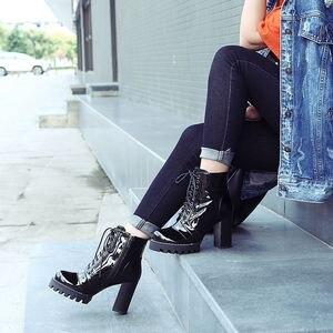 Image 5 - ALLBITEFO แฟชั่นของแท้หนังหนารองเท้าส้นสูงรองเท้าผู้หญิงส้นสูงรองเท้าหนังคุณภาพสูงรองเท้าสาวรองเท้า