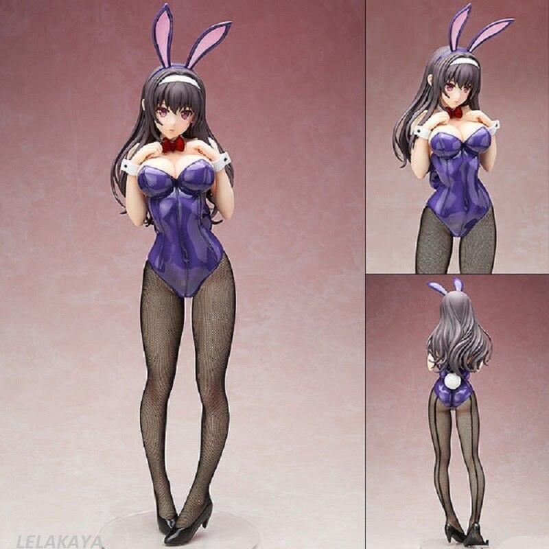 Japan Anime KASUMIGAOKA Bunny Girl Action figure Bikini rabbit ears Utaha ver PVC 45cm model toy collection sexy Bunny doll