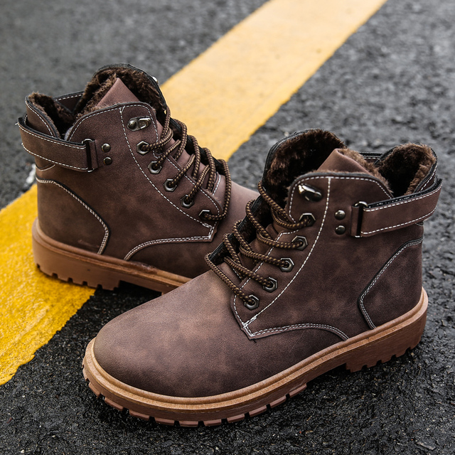 2018 New Fashion Men Winter Boots Super Warm Male Snow Ankle Boots Waterproof Wear-resisting Casual Boot Shoes