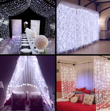3×1/3×2/4x2m 320 LED Icicle String Lights Christmas xmas Fairy Lights Outdoor Home For Wedding/Party/Curtain/Garden Decoration