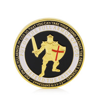 Coins Gold Plated Put On The Armor of God Navy Commemorative Challenge Coin Collection New XQ Drop shipping