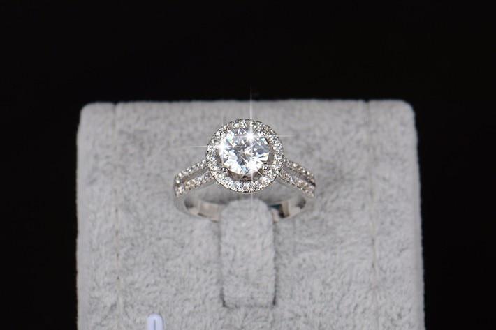 Hot koop Fashion Luxe Vrouwen Engagement Sieraden 925 sterling Zilver - Mode-sieraden - Foto 4
