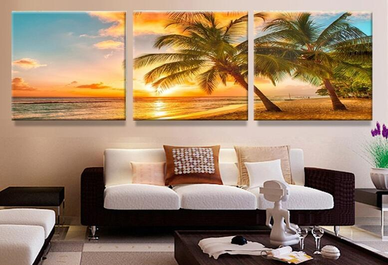 3pcs 5d DIY diamond painting Seascape Tree sunset diamond embroidery round/square mosaic modern triptych home decoration gifts