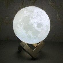Chaohui Dropshipping 3D Print Moon Lamp