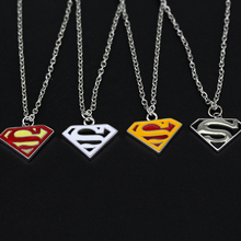 Movie Jewelry Superman S Logo Charm Pendant Necklace 4 Colors