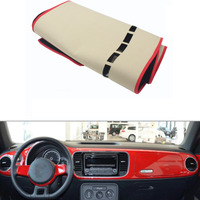 For VW Beetle 2012 2016 Car Dashboard Avoid Light Pad Instrument Platform Desk Cover Mat Silicone